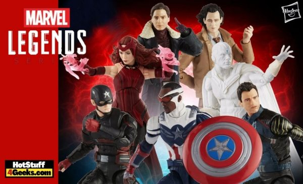 Hasbro: Avengers 2021 Marvel Legends 6-Inch Action Figures Wave 1 -U.S. Agent, Baron Zemo, Scarlet Witch, Winter Soldier, The Vision, Loki, Captain America