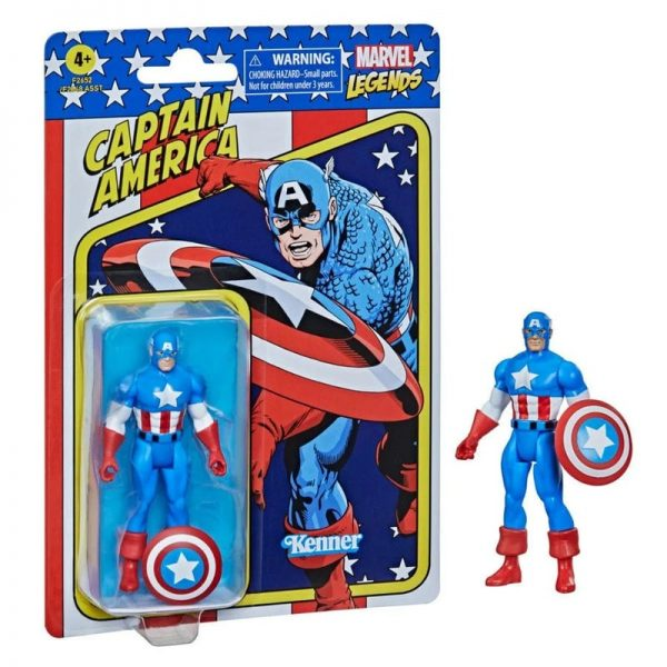 Hasbro Marvel Legends Retro 375 Collection - Captain America Action Figure