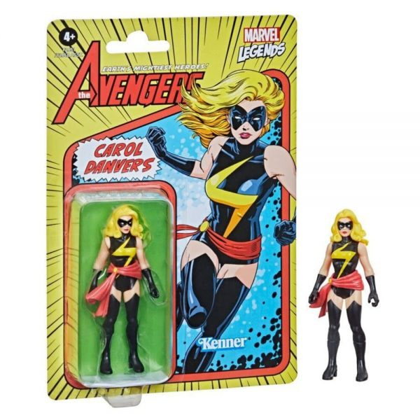 Hasbro Marvel Legends Retro 375 Collection - Carol Danvers Action Figure