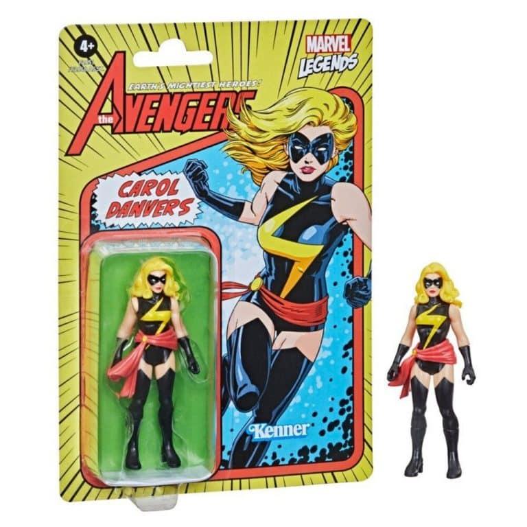 Hasbro Marvel Legends Retro 375 Collection - Carol Danvers Action Figure