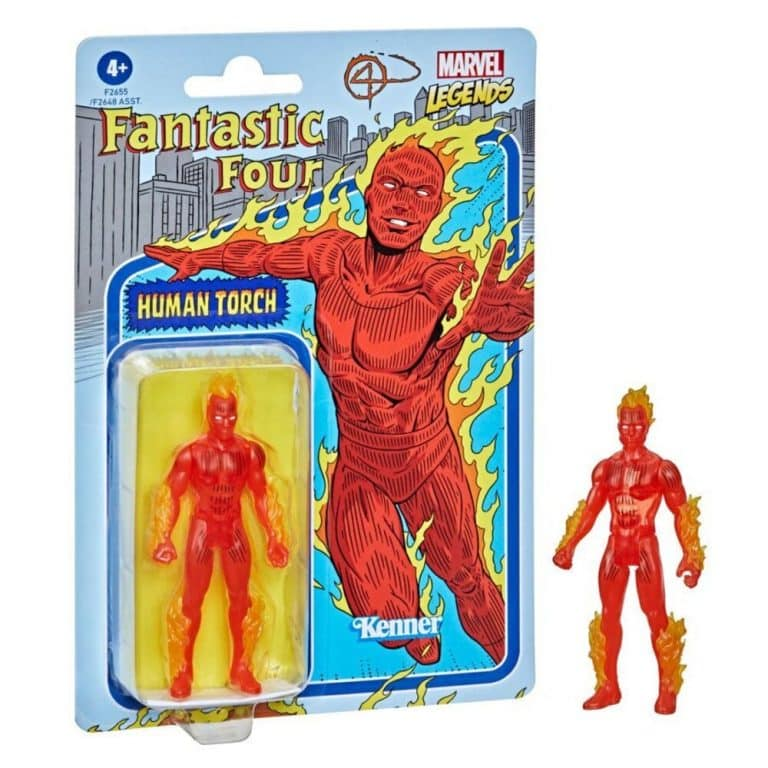 Hasbro Marvel Legends Retro 375 Collection - Fantastic 4 Human Torch Action Figure