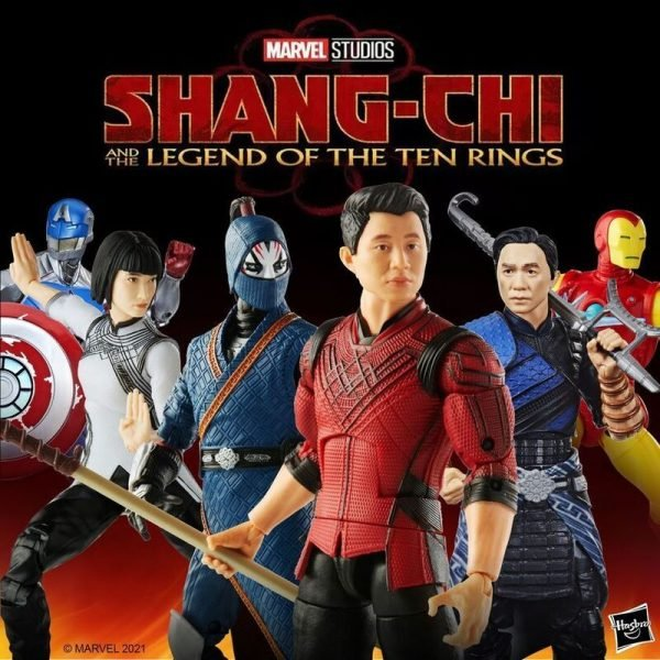 Hasbro: Shang-Chi Marvel Legends Wave - Shang-Chi, Iron Man, Death Dealer, Civil Warrior, Xia Ling, Wenwu, and Mr. Hyde (Building Figure) 6-Inch Action Figures