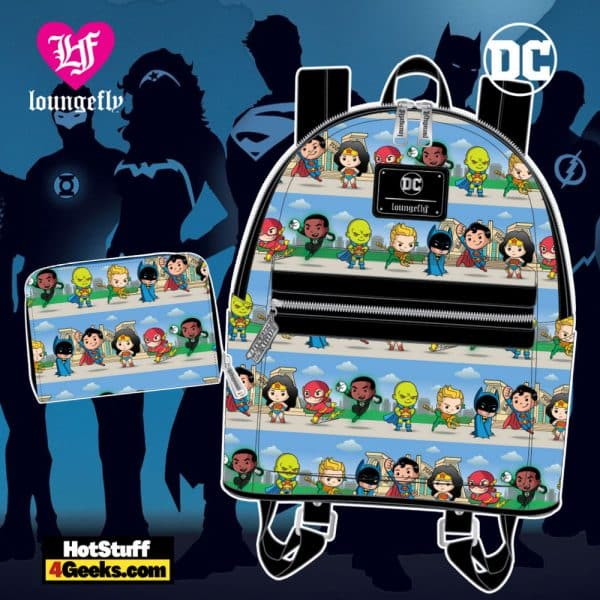 Loungefly DC Superheroes Chibi Lineup Collection - April 2021 pre-orders coming on May 2021