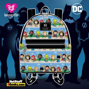 Loungefly DC Superheroes Chibi Lineup Mini Backpack - April 2021 pre-orders coming on May 2021