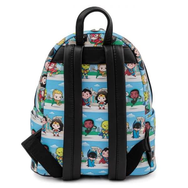 Loungefly DC Superheroes Chibi Lineup Mini Backpack