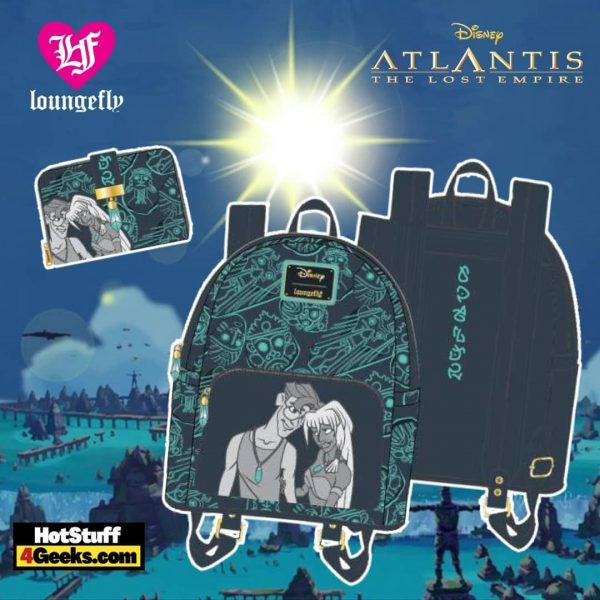 Loungefly Disney Atlantis 20th Anniversary Kida Milo Collection