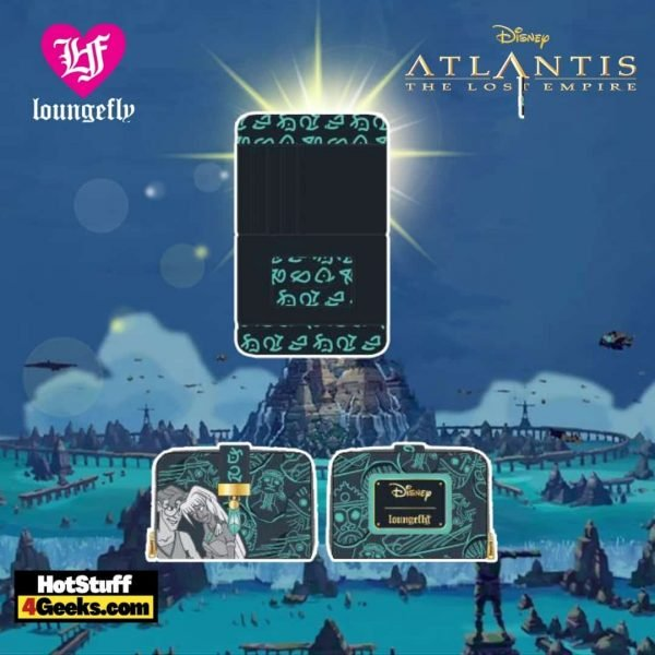 Loungefly Disney Atlantis 20th Anniversary Kida Milo Wallet