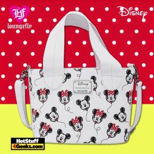 Loungefly Disney Mickey Minnie Mouse Balloons AOP Handbag