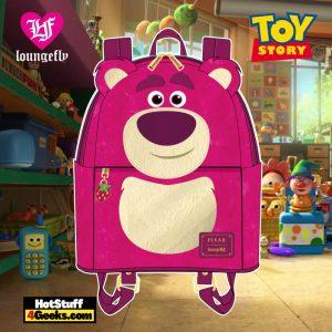 Loungefly Disney Pixar Lotso Cosplay Sherpa Mini Backpack - April 2021 pre-orders coming on May 2021