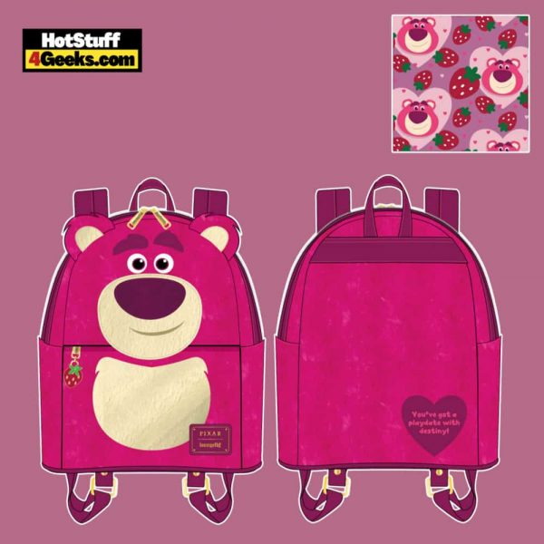 Loungefly Disney Pixar Lotso Cosplay Sherpa Mini Backpack - April 2021 pre-orders coming on May 2021