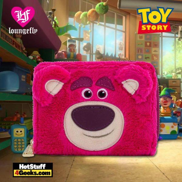 Loungefly Disney Pixar Lotso Cosplay Sherpa Zip Around Wallet