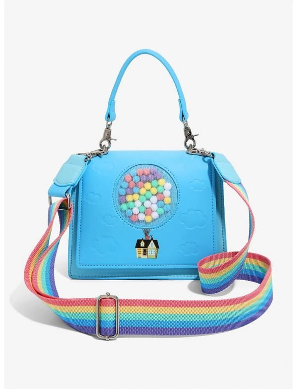 Loungefly Disney Pixar Up House Pom Pom Balloons Hand Bag - BoxLunch Exclusive