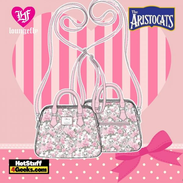 Loungefly Disney The Aristocats Marie Floral AOP Crossbody
