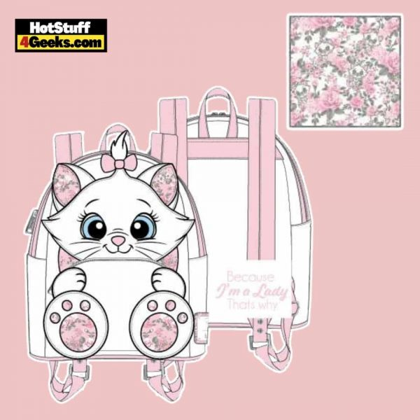 Loungefly Disney The Aristocats Marie Floral Footsy Mini Backpack