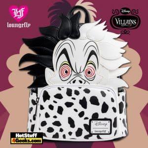 Loungefly Disney Villains Cruella de Vil Spots Cosplay Mini Backpack