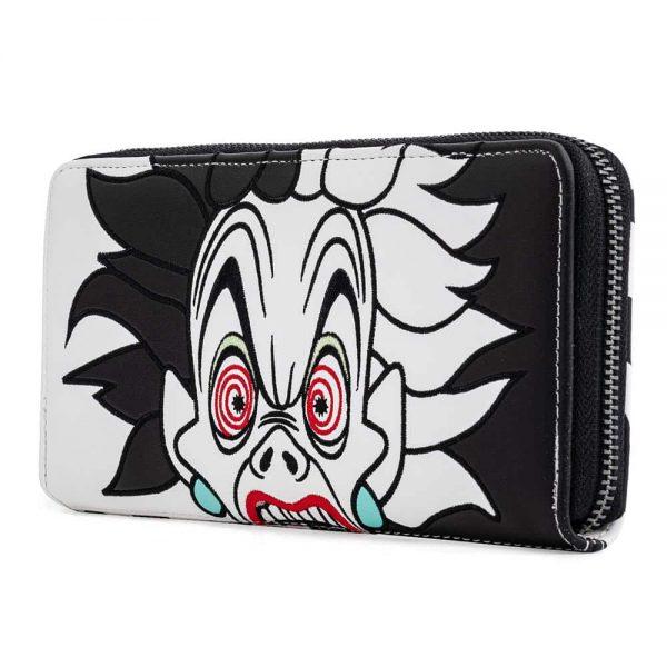 Loungefly Disney Villains Cruella de Vil Spots Cosplay Zip Around Wallet