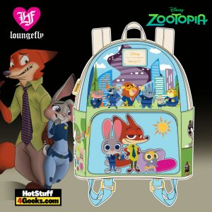 Loungefly Disney Zootopia Chibi Group Mini Backpack - April 2021 pre-orders coming on May 2021
