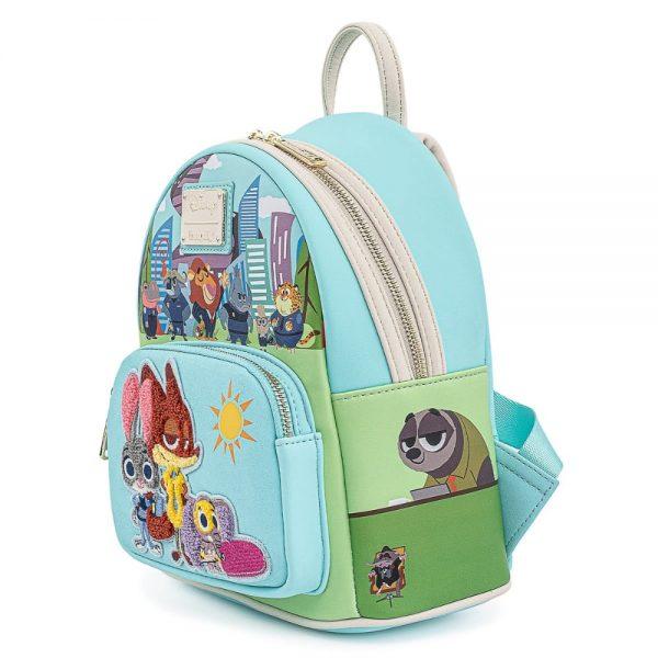 Loungefly Disney Zootopia Chibi Group Mini Backpack