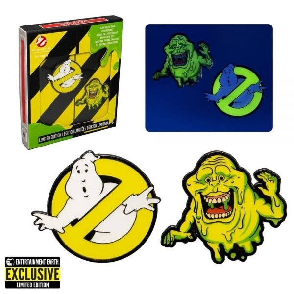 Loungefly Ghostbusters Glow-in-the-Dark Pin Set of 2 - Entertainment Earth Exclusive