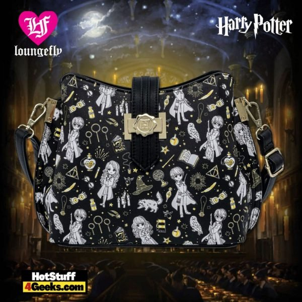Loungefly Harry Potter Magical Elements AOP Crossbody