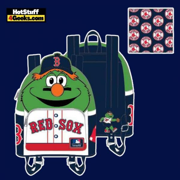 Loungefly MLB Boston Red Sox Wally The Green Monster Cosplay Mini Backpack