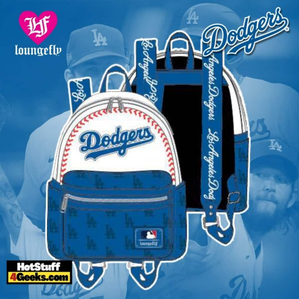 Loungefly MLB LA Dodgers Baseball Seam Stitch Mini Backpack