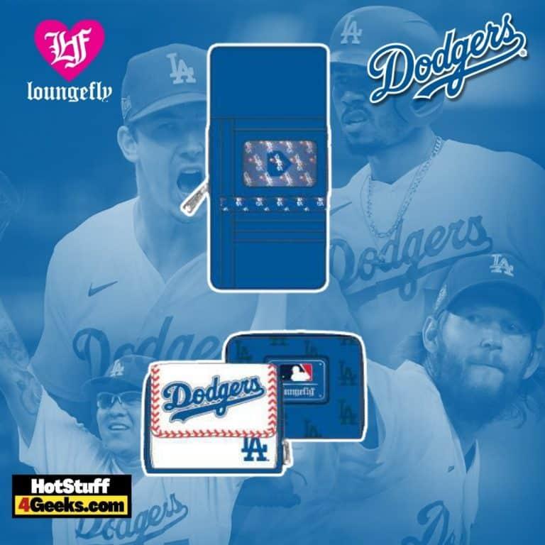 Loungefly MLB LA Dodgers Baseball Seam Stitch Wallet