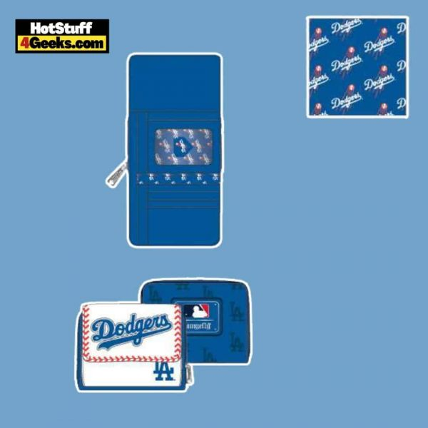Loungefly MLB LA Dodgers Baseball Seam Stitch Wallet