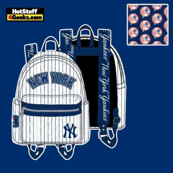 Loungefly MLB NY Yankees Pinstripes Mini Backpack