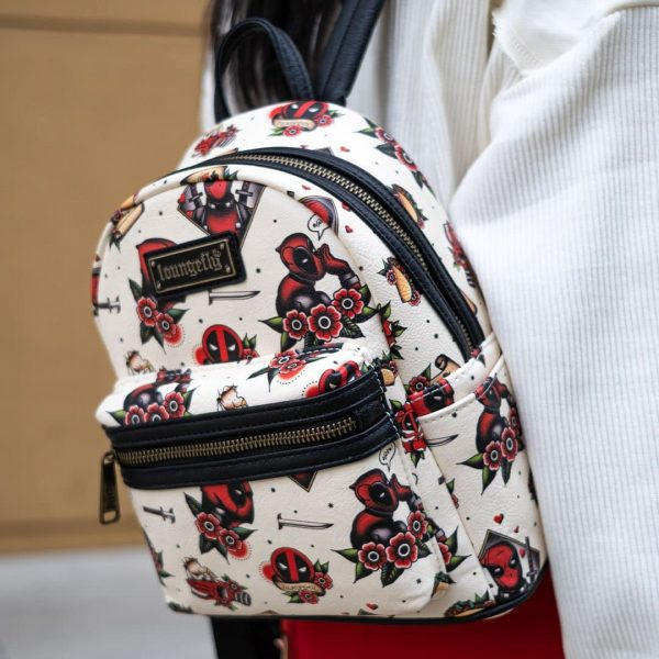 Loungefly Marvel Deadpool Tatto Mini Backpack - Vaulted - 707 Street Exclusive