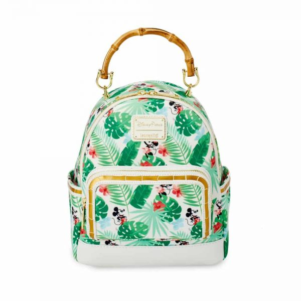 Loungefly Mickey and Minnie Tropical Mini Backpack