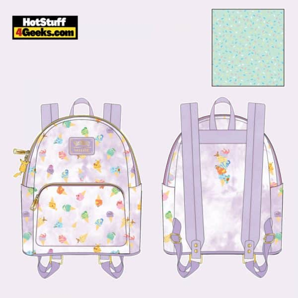 Loungefly Pokemon Ice Cream Acid Wash Denim Mini Backpack - April 2021 pre-orders coming on May 2021