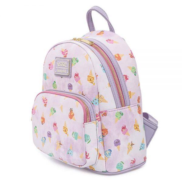 Loungefly Pokemon Ice Cream Acid Wash Denim Mini Backpack