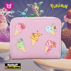 Loungefly Pokemon Ice Cream Denim Zip Around Wallet