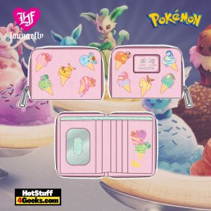 Loungefly Pokemon Ice Cream Denim Zip Around Wallet - April 2021 pre-orders coming on May 2021