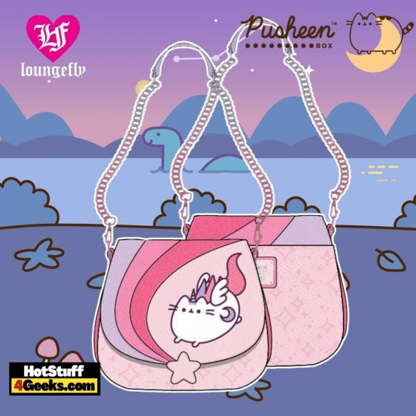 Loungefly Pusheen Unicorn Plush Ombre Chain Strap Crossbody
