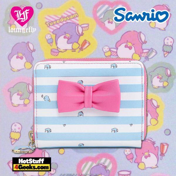 Loungefly Sanrio Tuxedo Sam Striped Zip Around Wallet