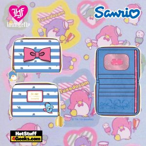Loungefly Sanrio Tuxedo Sam Striped Zip Around Wallet - April 2021 pre-orders coming on May 2021