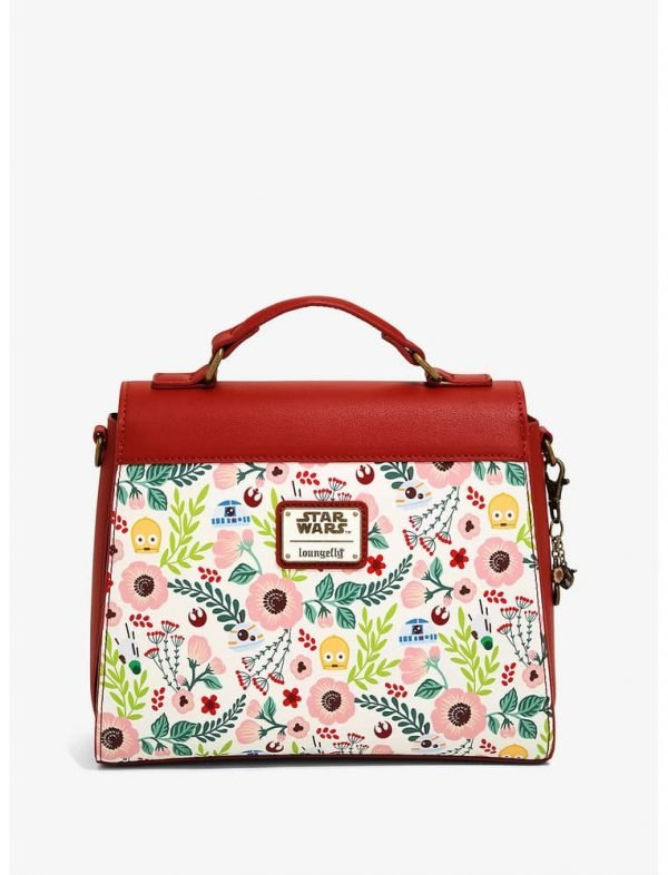 Loungefly Star Wars Droids Floral Crossbody Bag - BoxLunch Exclusive