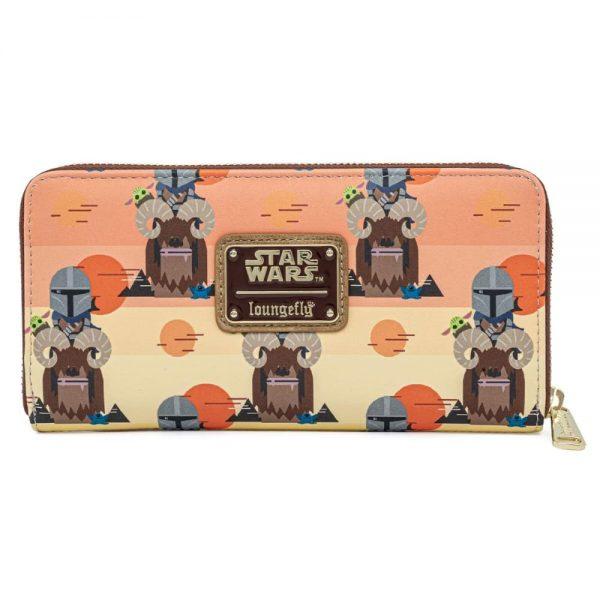Loungefly Star Wars Mandalorian Bantha Ride AOP Zip Around Wallet