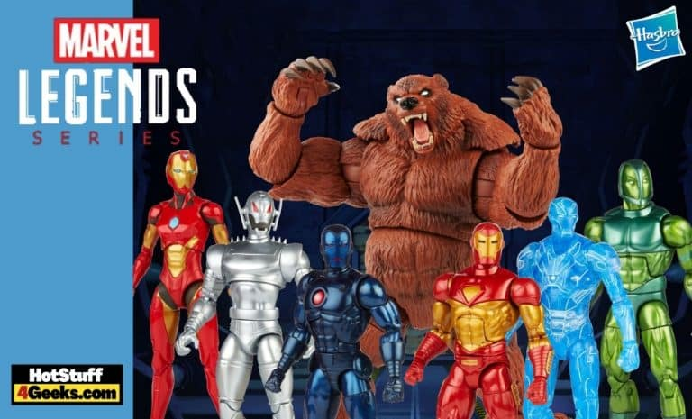 Hasbro: Marvel Legends Comic 6-Inch Action Figures Wave 1 - Modular Iron Man, Darkstar, Vault, Guardsman, Stealth Iron Man, Hologram Iron Man, Ironheart, Ultron, and Ursa Major (BAF)