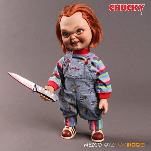 Mezco Toys Child's Play Sneering Chucky 15-Inch Talking Doll