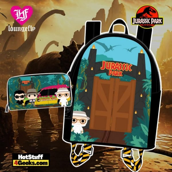 Pop by Loungefly Jurassic Park Gates Wallet and Mini Backpack - April 2021 pre-orders coming on May 2021