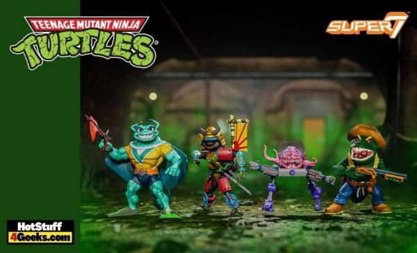 Super 7: Teenage Mutant Ninja Turtles Ultimates - Leo the Sewer Samurai, Krang, Leatherhead, and Ray Fillet 7-Inch Action Figures - Wave 5