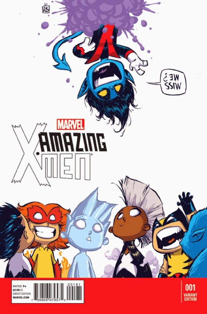 Amazing X-Men issue number 1 alternate cover by Skottie Young