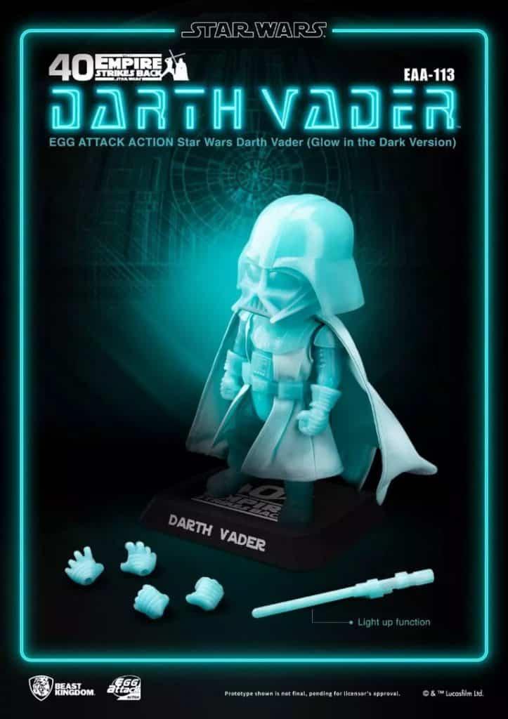 Beast Kingdom Star Wars Darth Vader Glow In the Dark (EAA-113) Action Figure