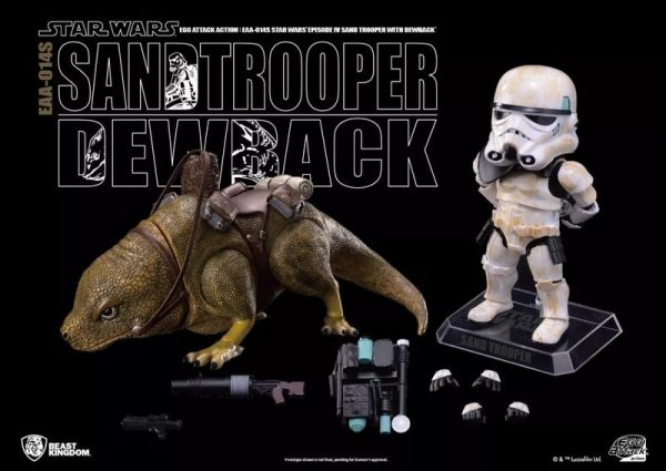Beast Kingdom: Star Wars: Episode IV - A New Hope Dewback and Sandtrooper Egg Attack Action Figure - Previews Exclusive