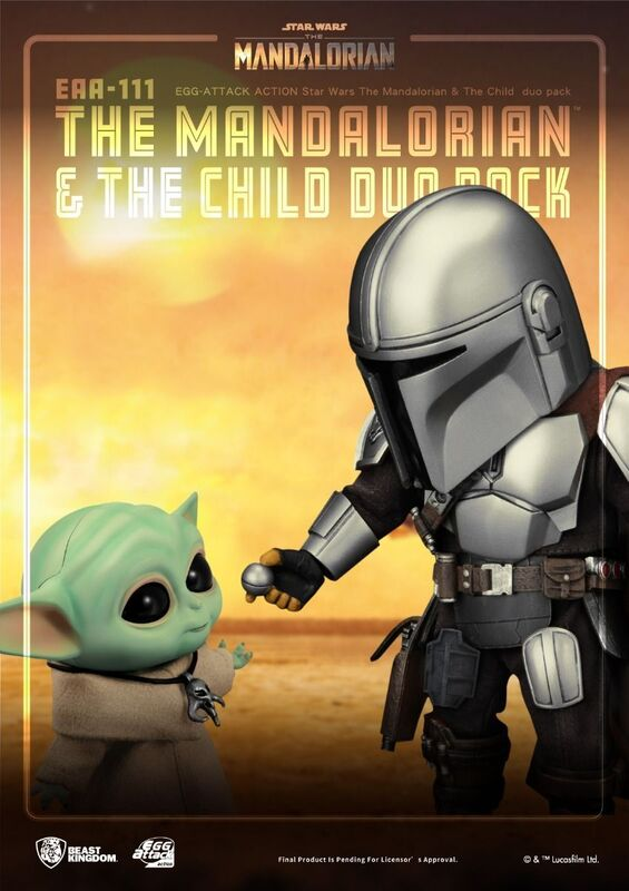 Beast Kingdom: Star Wars: The Mandalorian and The Child Duo EAA-111 Action Figure Set