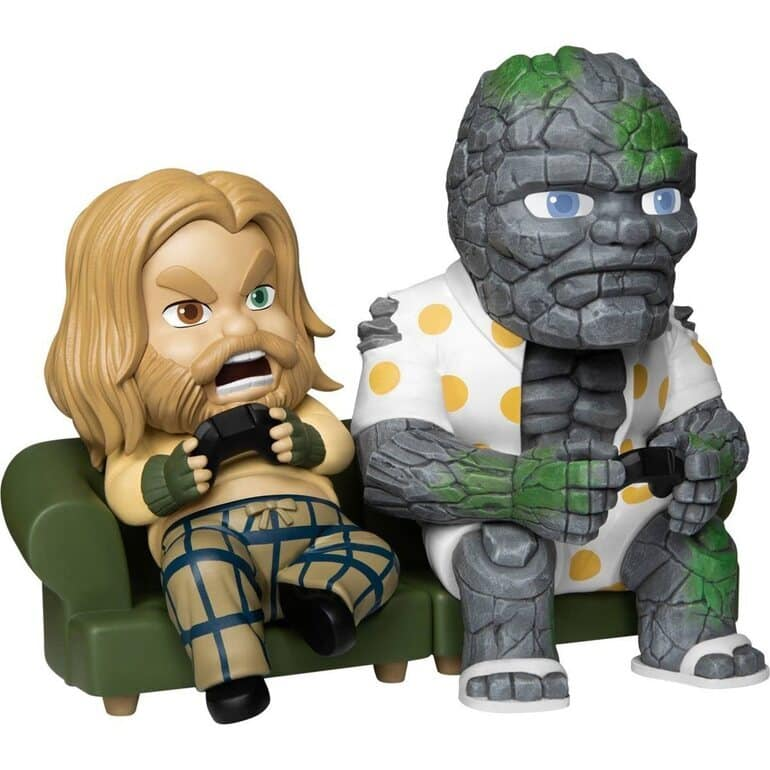 Beast Kingdom: Avengers: Endgame - Bro Thor and Korg Mini Egg Attack (MEA-025) Figure 2-Pack - SDCC 2021 Previews Exclusive