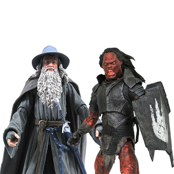 Diamond Select: Lord of the Rings Deluxe Series 4 - Gandalf and Uruk-Hai Orc Action Figures